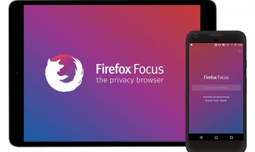 Firefox Focus, un navigateur web pour mobiles et tablettes qui vous veut du bien …